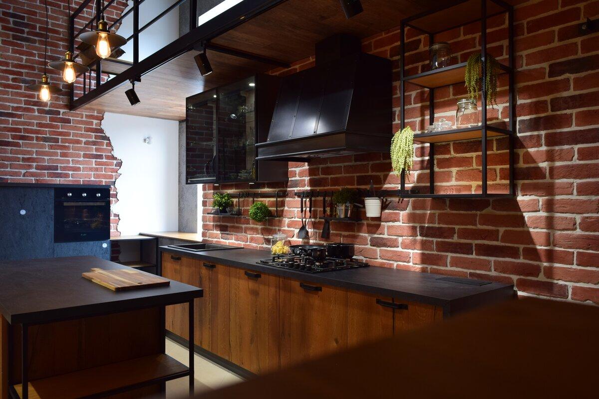 Картинки для стиля лофт для кухни